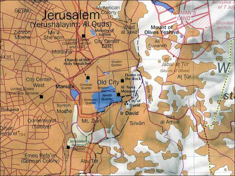 Divine Intervention - Map Of The Temple Mount And Vicinity